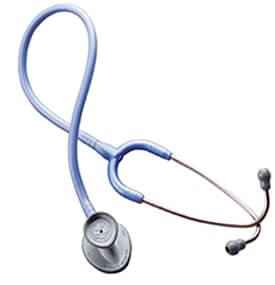 stethoscope with oval chest piece